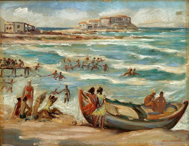 «Αλιμος-Κολυμβητές», το έργο του γνωστού χαράκτη και ζωγράφου Αλέξανδρου Κορογιαννάκη